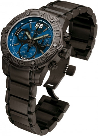 Invicta Men's 10594 Ocean Reef Reserve Chronograph Blue Dial Black Watch