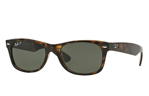 Ray-Ban RB2132- New Wayfarer Non-Polarized Sunglasses 902 Tortoise Brown/Crystal Green Size 52
