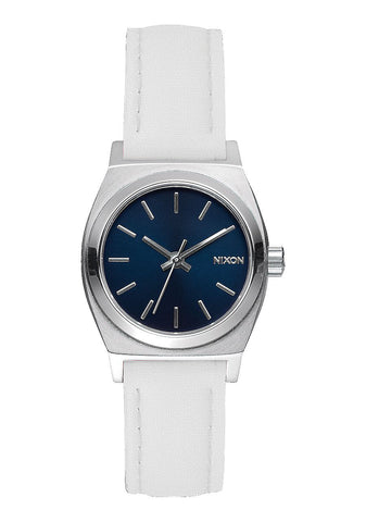Nixon Women's A509321 Small Time-Teller Leather Analog Display White Watch