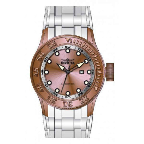 Invicta Men's 22246 Pro Diver Quartz 3 Hand Rose Gold Dial Watch