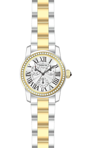 Invicta Women's 21707 Angel Quartz 3 Hand Silver Dial Watch