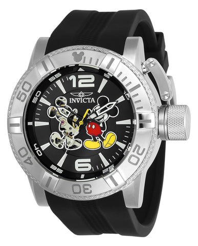 Invicta Men's 23792 Disney Automatic 3 Hand Black Dial Watch