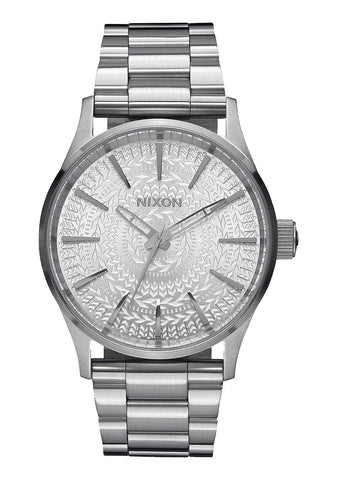 Nixon Men's A4502129 Sentry 38 SS Analog Display Japanese Quartz Silver Watch