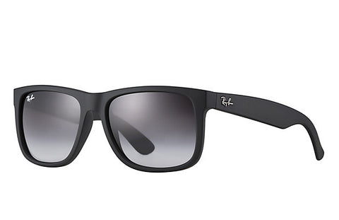 Ray-Ban Men's RB4165 601/8G55 Square Sunglasses,Black Frame/Gray Gradient Len...