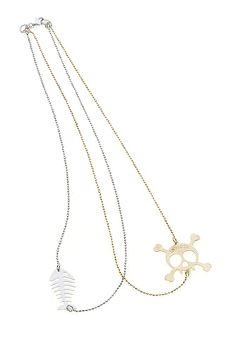 Invicta Silver 925 and Yellow Gold-tone Necklace J0269