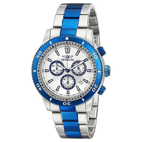 Invicta Men's 10360 Specialty Quartz Chronograph Silver Dial Watch