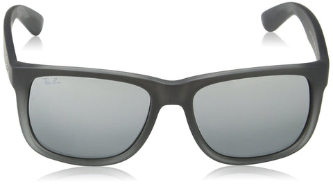 Ray-Ban Sunglasses - RB4165 / Frame: Gray to Transparent Lens: Gray Silver Mirror Gradient (54mm)