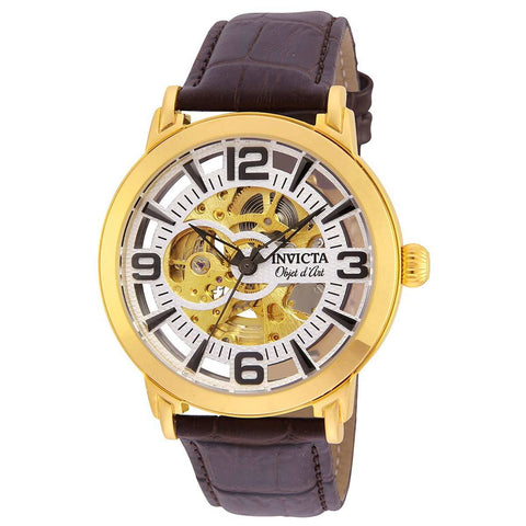 Invicta Men's 22608 Objet D Art Automatic 3 Hand Silver Dial Watch