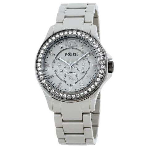 Fossil Watches, Women's Riley Ceramic Watch Stone Grey