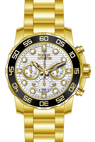 Invicta Men's 22229 Pro Diver Quartz Chronograph Silver Dial Watch