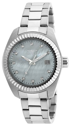 Invicta Women's 20351 Specialty Quartz 3 Hand White Dial Watch