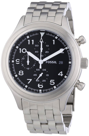 Fossil Compass Chronograph Stainless Steel Watch Jr1431