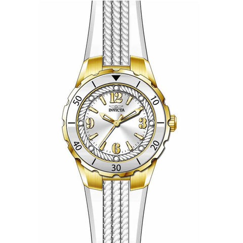 Invicta Women's 17484 Angel Quartz 3 Hand Silver Dial Watch