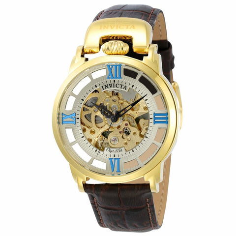 Invicta Men's 22614 Objet D Art Automatic 3 Hand Gold Dial Watch