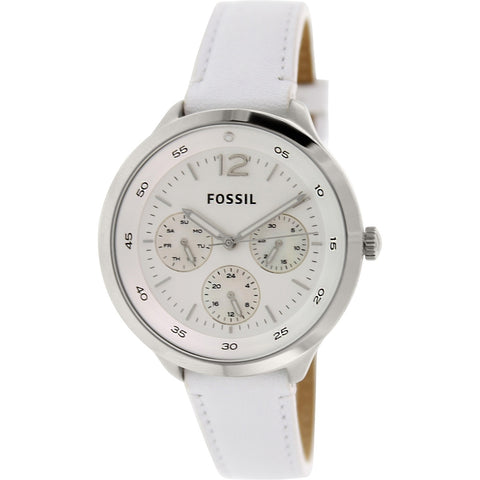Fossil Women's ES3242 Editor White/Silver Stainless Steel Watch