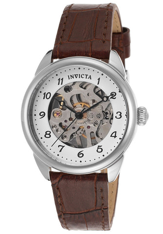 Invicta Women's 17198 Specialty Mechanical 3 Hand Silver Dial Watch