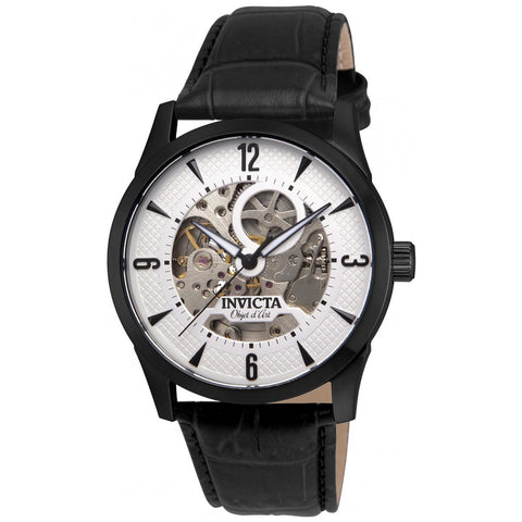 Invicta Men's 22639 Objet D Art Automatic 3 Hand Silver Dial Watch