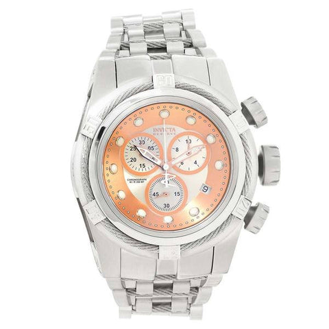 Invicta Men's 21805 Bolt Quartz Chronograph Silver, Rose Gold Dial Watch