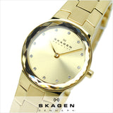 Skagen Klassik Womens Two-Hand Stainless Steel Watch Gold-Tone Skw2073