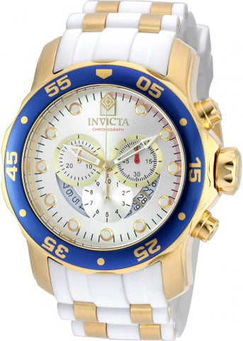Invicta 20293 Men's Pro Diver Blue Bezel Steel & Polyurethane Strap Chrono Watch