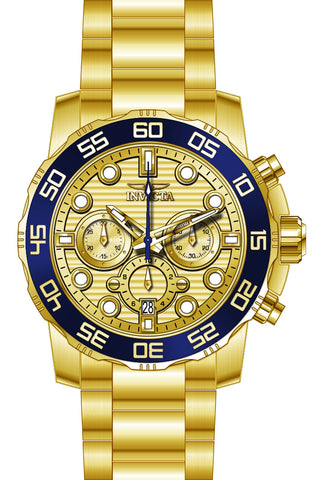 Invicta Men's 22227 Pro Diver Quartz Chronograph Gold Dial Watch