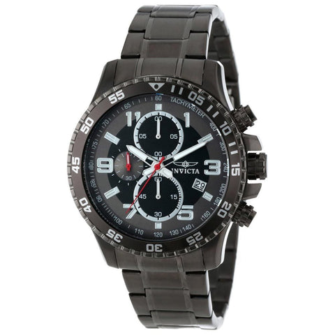 Invicta Men's 14879 Specialty Quartz Chronograph Black, Gunmetal Dial Watch