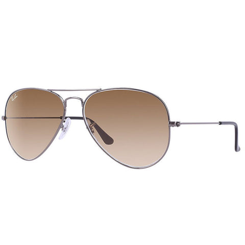 Ray-Ban Aviator 55mm Metal Sunglasses RB3025 004/51-5514 - Gunmetal Crystal Brown