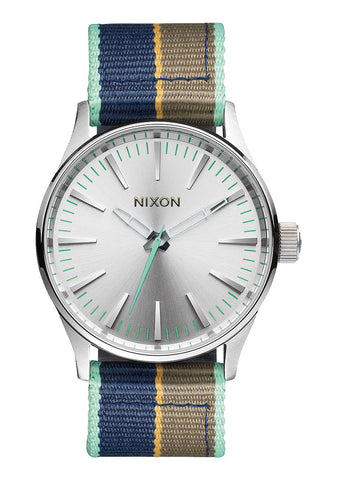 Nixon Men's A4262083 Sentry 38 Nylon Analog Display Analog Quartz Watch