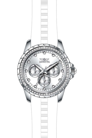 Invicta Women's 21899 Angel Quartz Chronograph Silver Dial Watch