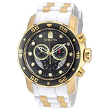 Invicta Pro Diver Chronograph Mother of Pearl White Polyurethane Mens Watch 20289