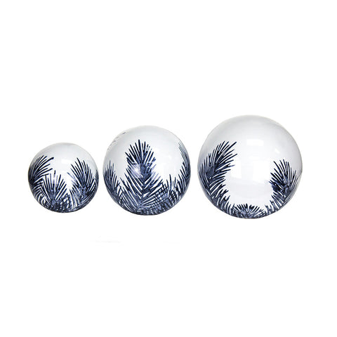 S/3 DECORATIVE CERAMIC ORBS