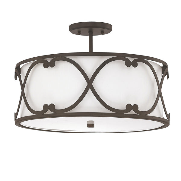 Alexander 3 Light Semi Flush