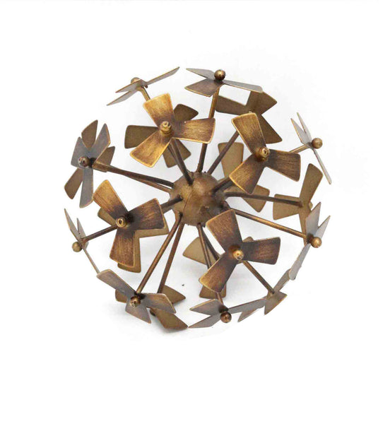 METAL PINWHEEL DECORATIVE ORB