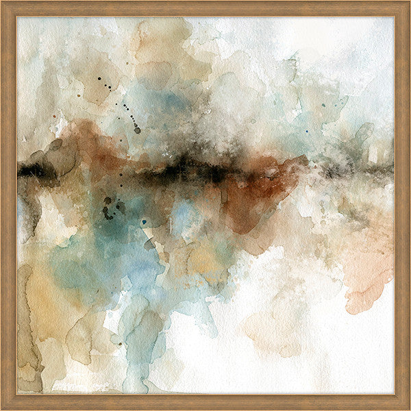 "Horizontal Water Color Way 1   40"" x 40""   Framed"