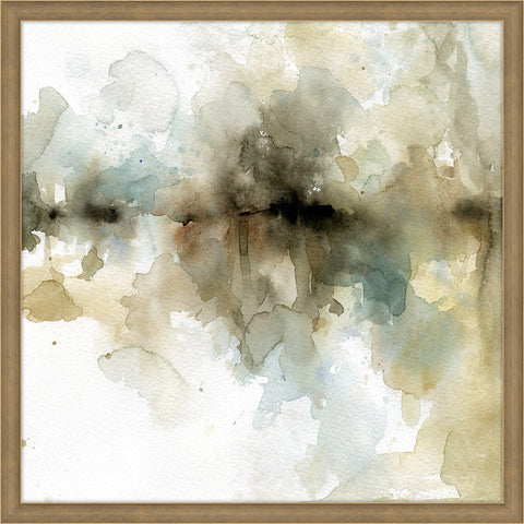 "Horizontal Water Color Way 2   40"" x 40""   Framed"