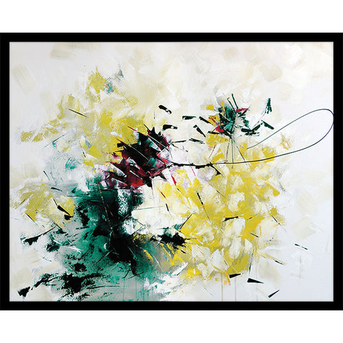 "Lasso Me Some Yellow   32"" x 42""   Deep Floater Frame"
