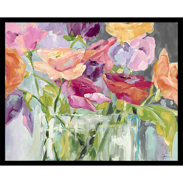 "Blooming Menagerie   32"" x 42""   Deep Floater Frame"