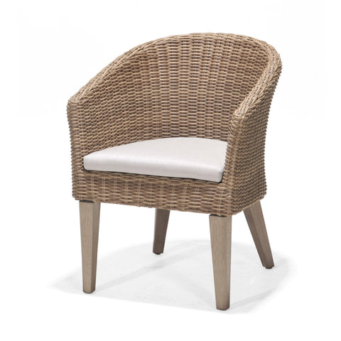 Monroe Dining Chair with Cushion, Rustic