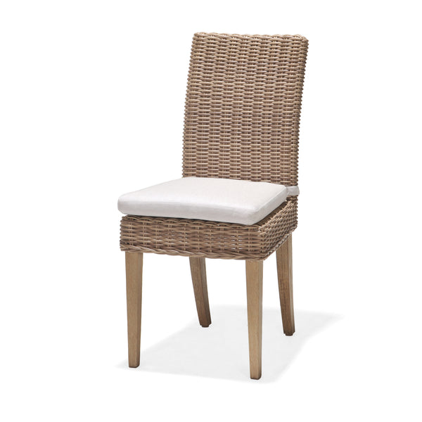 St. Lucia Dining Chair with Cushion, Rustic