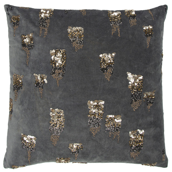Abstract Accent Pillow Grey