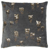 Grey Abstract Accent Pillow