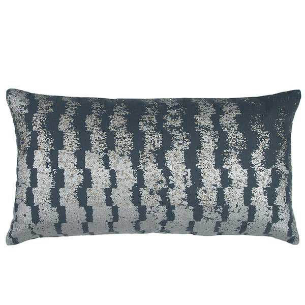 Gray and Silver Pillow