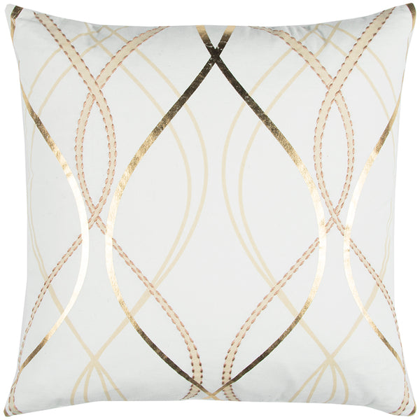 White with Gold Pillow
