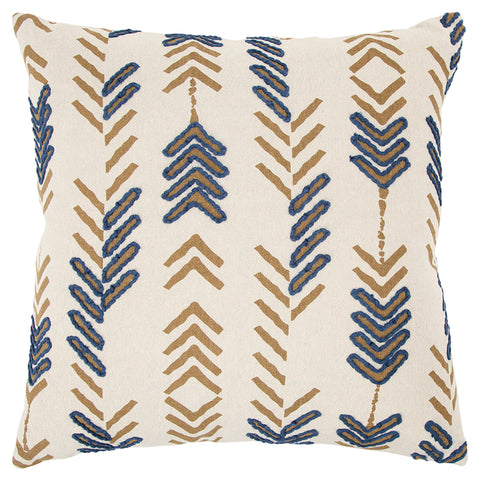 Gold and Blue Pillow