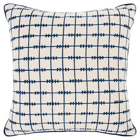 White and Blue Pillow