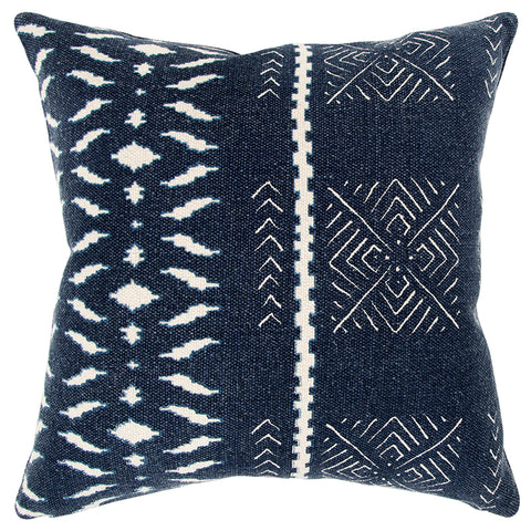 Indigo with White Pillow