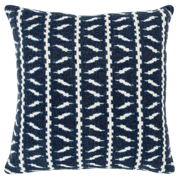 Blue Geometric Accent Pillow