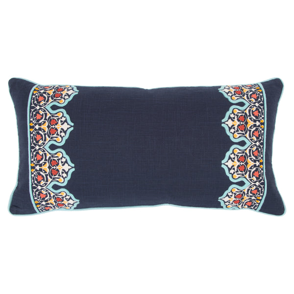 Blue Stripe Accent Pillow