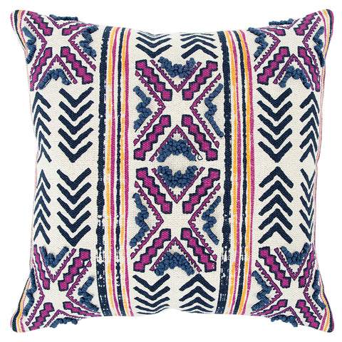 Pink Stripe Accent Pillow