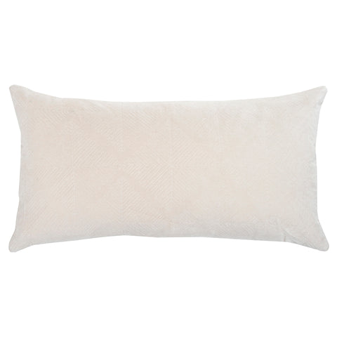 Beige Geometric Accent Pillow